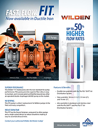 Wilden FIT - Flyer de ferro dúctil (WIL-11510-F)