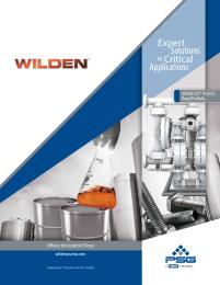 Folheto de plástico avançado Wilden (WIL-11011-C)