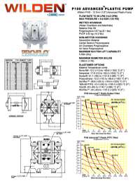 Folha de especificações de plástico Wilden P100