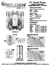 Folha de especificações de metal Wilden P1