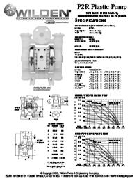 Folha de especificações de plástico Wilden P2