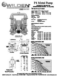 Folha de especificações de metal Wilden P4