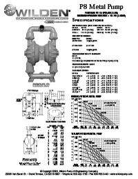 Folha de especificações de metal Wilden P8
