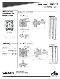 Folha de especificações de metal Wilden PS1