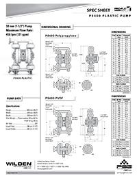 Folha de especificações de plástico Wilden PS400