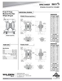 Folha de especificações de plástico Wilden PS800