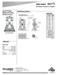Folha de especificações de plástico Wilden PS1500