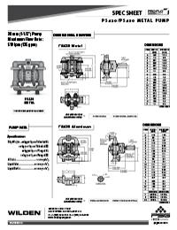Folha de especificações de metal Wilden PS420 / 430