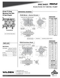 Folha de especificações de metal Wilden P220 / 230